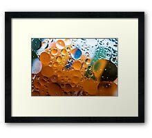 Multiverse Peach & Green Framed Print
