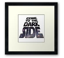 Dark Side Star Wars Framed Print