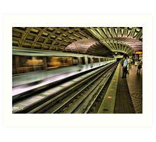 Metro Motion Art Print
