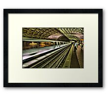 Metro Motion Framed Print
