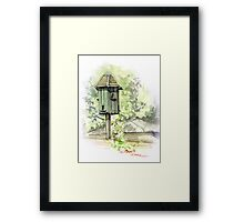 A Bird House  Framed Print