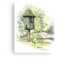 A Bird House  Canvas Print