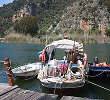 A Turkish Fishing Boat on the Dalyan River by taiche