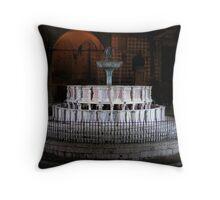 The Fontana Maggiore floodlit, Centro Storico, Perugia, Italy (1) Throw Pillow
