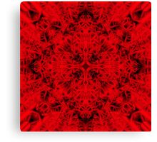 """Spirit of India: Cross-Fleur"" in deep red Canvas Print"