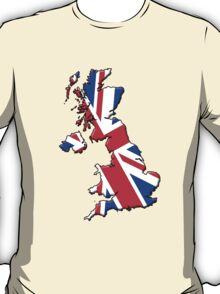 British flag and outline T-Shirt