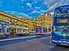 York railway station and buses by GrahamCSmith
