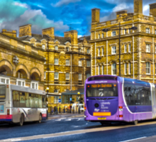 York railway station and buses Sticker