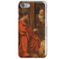 Circle of Jacob Jordaens - (Antwerp 1593 – 1678) Christ in the House of Mary, Martha and Lazarus iPhone Case/Skin