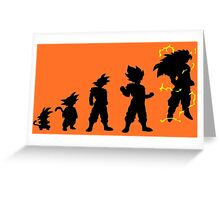 Saiyan Evolution Greeting Card