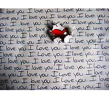 I Love You.. (1) - Valentine Photographic Print