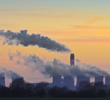 Drax power station at dusk Sticker