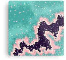 Pink and Mint Rift Galaxy Metal Print