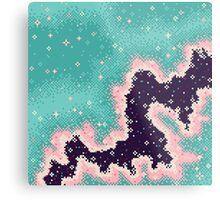 Pink and Mint Rift Galaxy Metal Print
