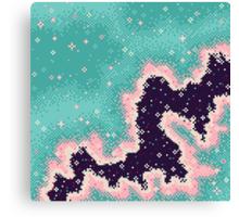Pink and Mint Rift Galaxy Canvas Print