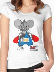 Mice Mike Mouse Boxer Women's Fitted Scoop T-Shirt