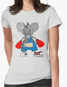 Mice Mike Mouse Boxer Womens Fitted T-Shirt