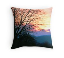 SUNSET, CADES COVE Throw Pillow