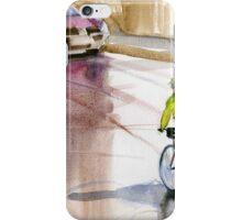 A cyclist on the English Bridge, Shrewsbury iPhone Case/Skin