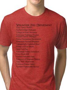 Volunteer Fire Department Tri-blend T-Shirt