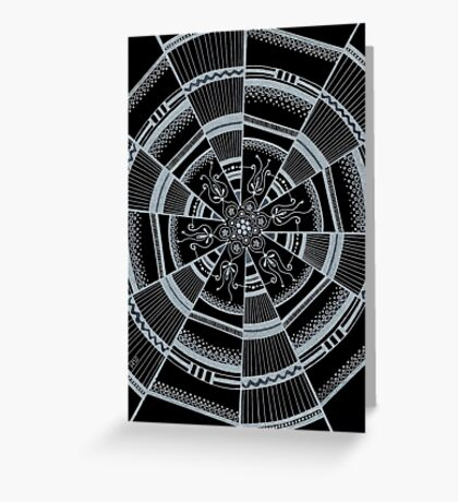 Black and white web Greeting Card