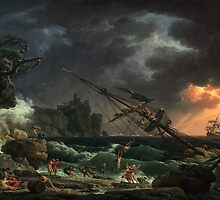 Claude-Joseph Vernet – National Gallery of Art 2000.22.1. The Shipwreck (1772) by Adam Asar