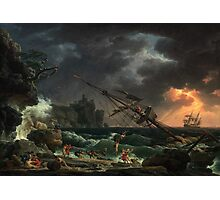 Claude-Joseph Vernet – National Gallery of Art 2000.22.1. The Shipwreck (1772) Photographic Print