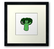 Bumpin' Broccoli Framed Print