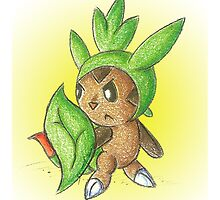 Chesnaught in Training by KOKeefeArt