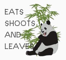 Eats, Shoots and Leaves Kids Clothes