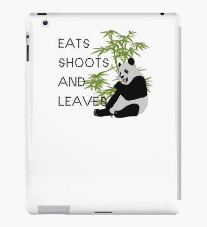 Eats, Shoots and Leaves iPad Case/Skin
