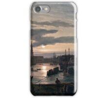 Copenhagen Harbour by Moonlight, 1846 Johan Christian Dahl iPhone Case/Skin