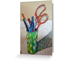 still life with scissors Greeting Card