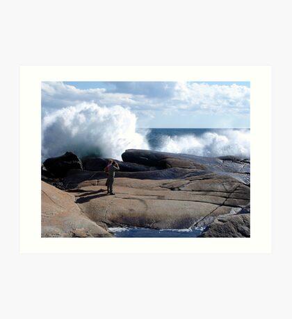 Bursting Waves Art Print
