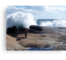 Bursting Waves Metal Print