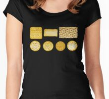 Savoury Biscuits and Crackers Women's Fitted Scoop T-Shirt