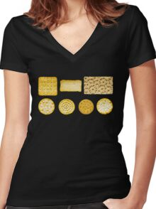 Savoury Biscuits and Crackers Women's Fitted V-Neck T-Shirt