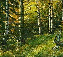 In the Forest edge by Veikko  Suikkanen