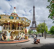 Parisian Carousel by Sue Martin