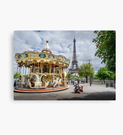 Parisian Carousel Canvas Print