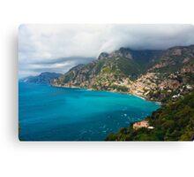 Amalfi Coastline Canvas Print