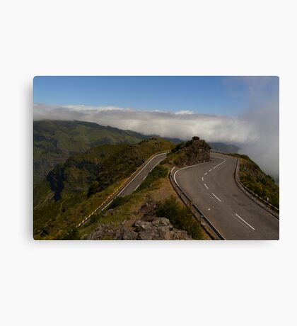 Driving above the Clouds Canvas Print