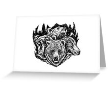 Four Bears Greeting Card