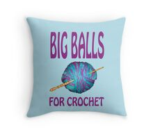 Big balls for crochet Throw Pillow