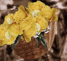 Basket of Roses by Karen Martin