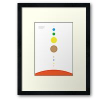 Space/Scale colour Framed Print
