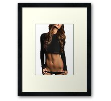 Lips by Classified Framed Print