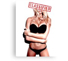 Classified - Sunset girl Canvas Print