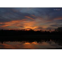 Cline Farm Sunset Photographic Print