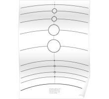 Space/Scale lines Poster